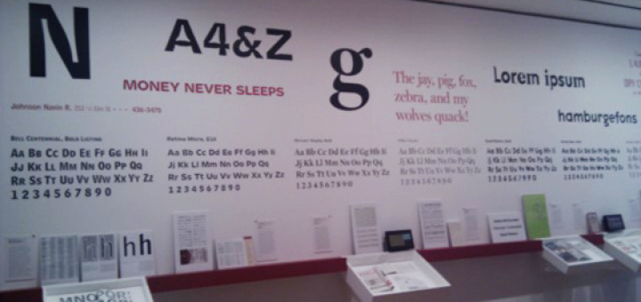 Typefaces at MoMA