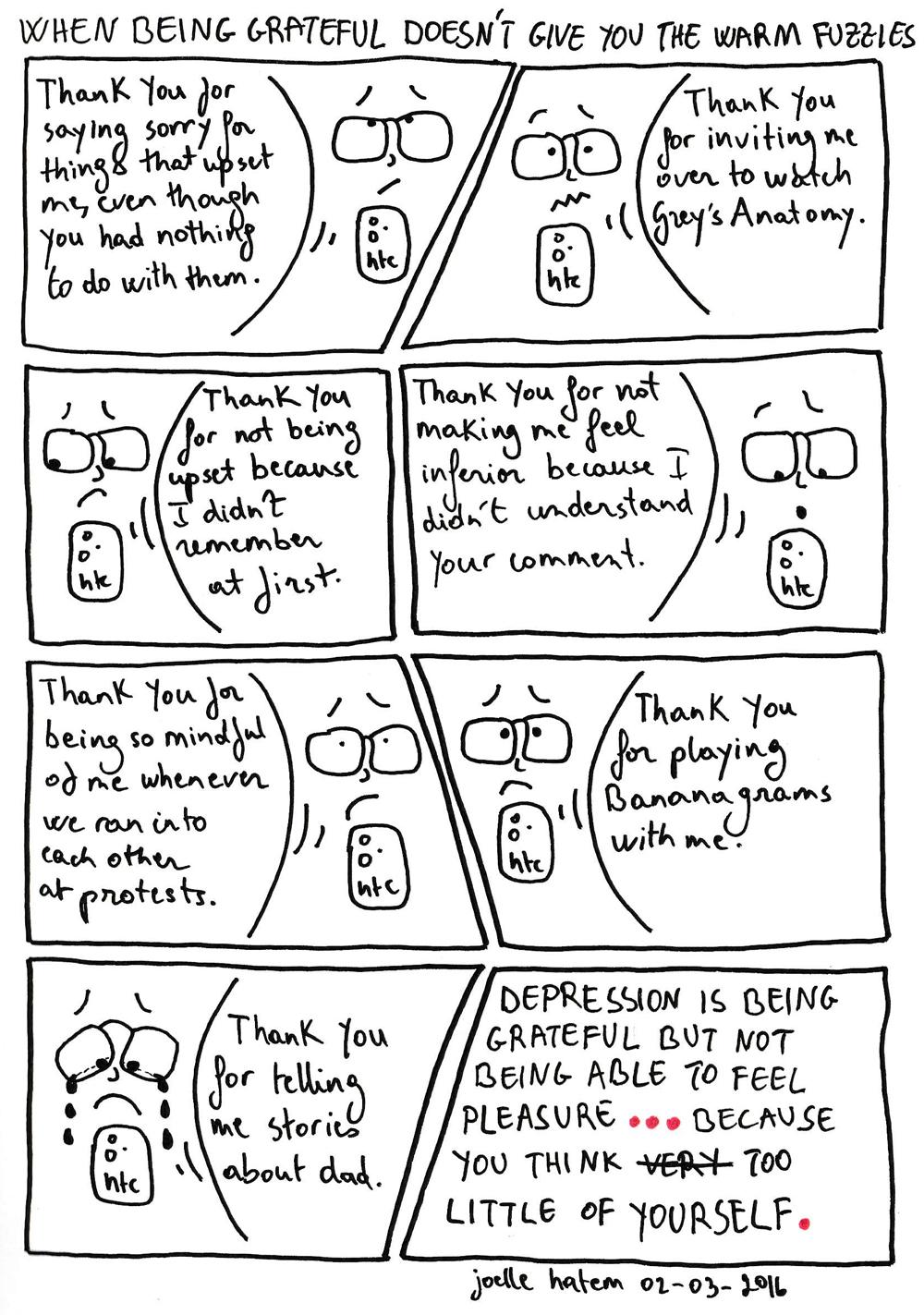 Gratefulness and Depression and Self-Worth